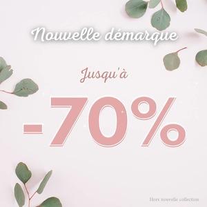 🥳 C'est parti pour la nouvelle démarque !!!  Encore plus de prix fou et des promos jusqu'à -70% 😜  C'est ici que ça ce passe ⬇️⬇️⬇️ www.newshopmode.fr
